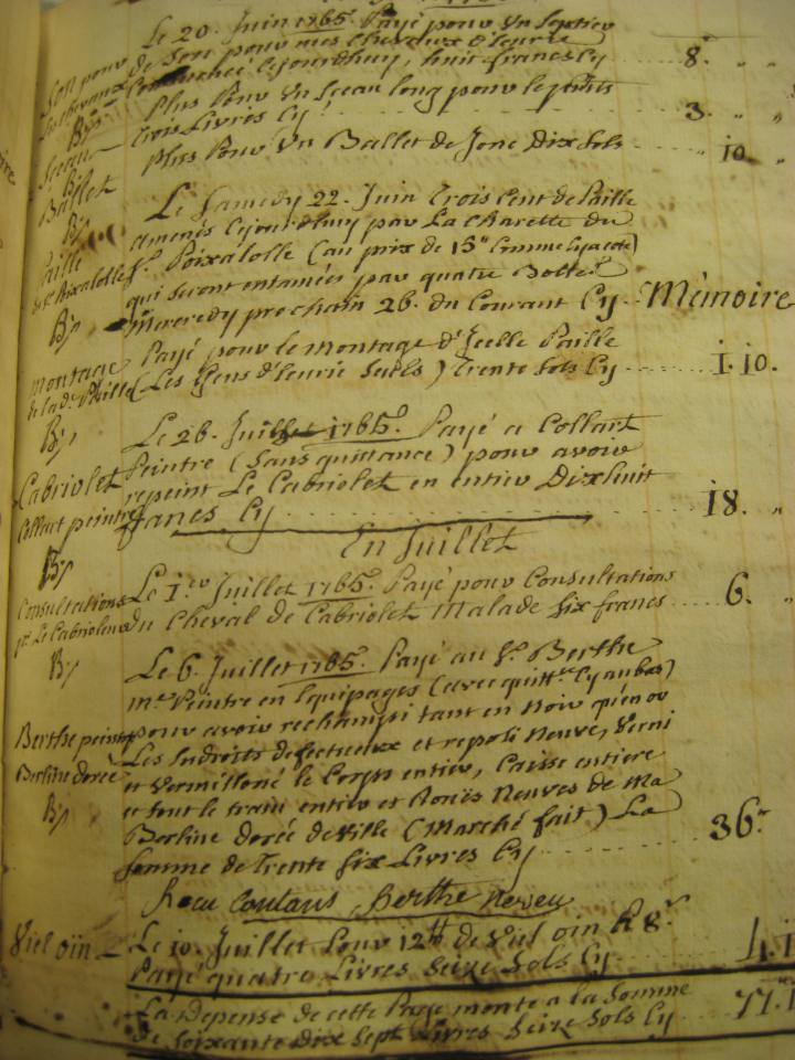 Near the end of the book, a second style of handwriting appears. This second style appears to have more flow and elegance.