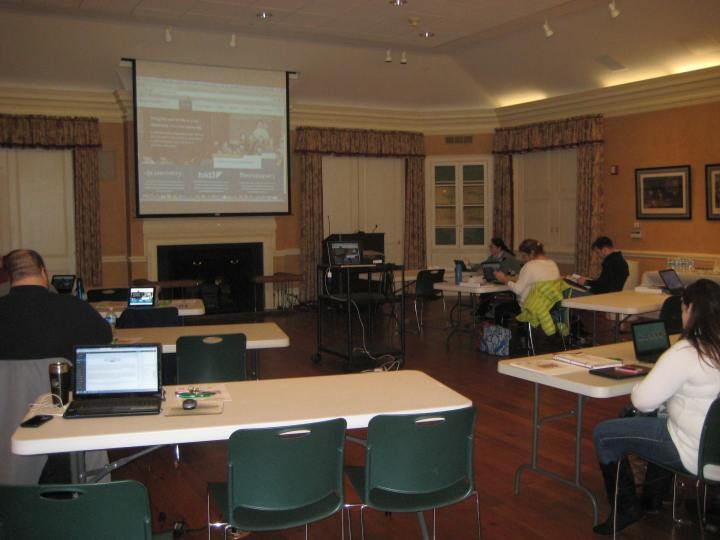 The seminar took place in the Founders' Room, with most attendees arriving early to take a brief look around early-morning Middleburg.