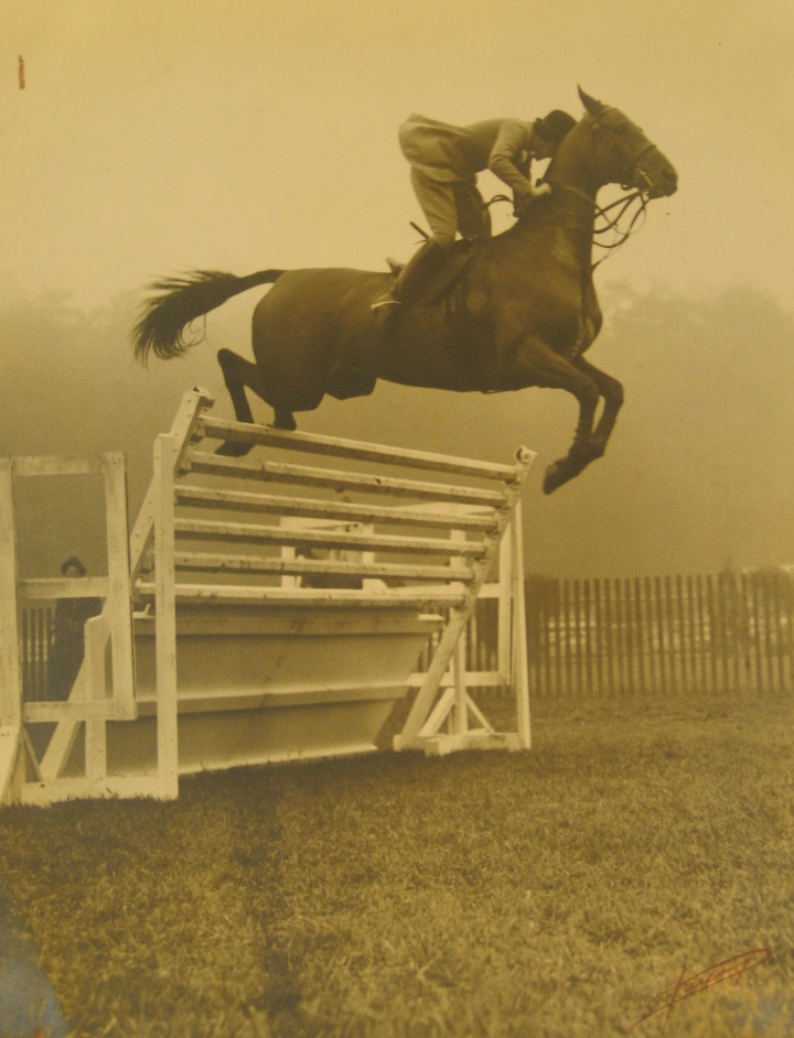 Who is this rider? The intrepid George L. Ohrstrom, Jr Librarian was on the case!