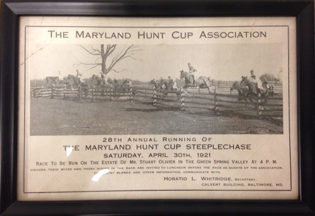 1921 Maryland Hunt Cup advertisement