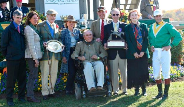 Presentation of the Ferguson Trophy, International Gold Cup, October 25, 2014. Pictured:
