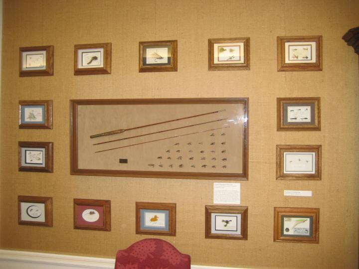 On the wall of the Main Reading Room, we have a selection of flies collected and framed by George Chapman.
