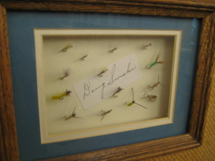 Flies tied by Doug Swisher, whose books on fly fishing strategy are available for access in the Main Reading Room.