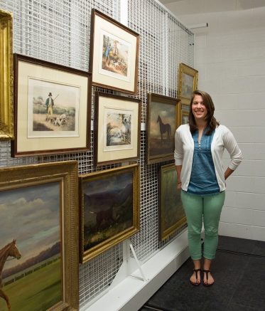 Anna Carneal, in museum art storage