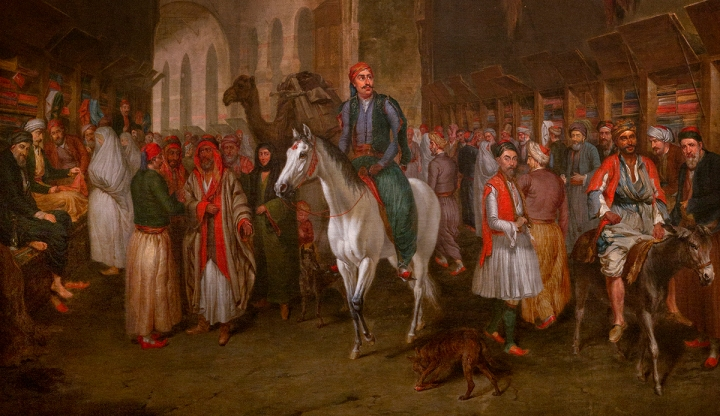 Detail of Bazaar in Damascus, 1856