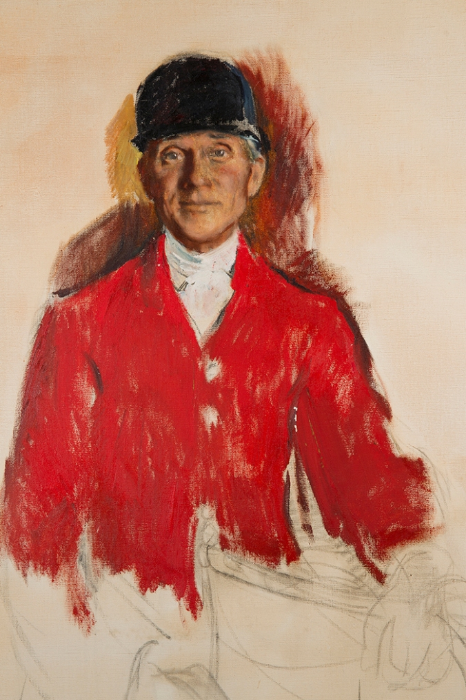 Ellen Gertrude Emmett Rand (American, 1875-1941) Study for Portrait of Fletcher Harper (1874-1963), c. 1931, oil on canvas, 45 x 34 ½ inches. National Sporting Library & Museum, gift of Mrs. Fletcher Harper, 1972.