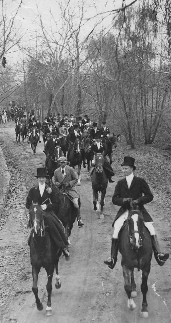 """""""Hunt Scene at Middleburg,"""" 1924"""