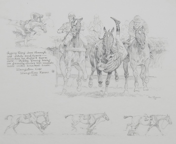 Llangollen Cup, Llangollen Farms 1932, 1933, pencil on paper, NSLM, Gift of Boots Wright in memory of Mr. and Mrs. Richard E. Riegel, 2013.
