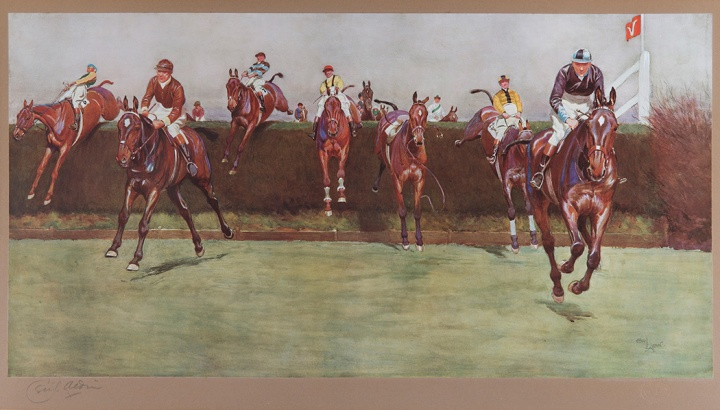 Cecil Aldin (English, 1870 – 1935) The Grand National Series: No. 3, Valentine's Brook, c. 1923 photogravure, 13 x 25 inches Gift of Dr. Laura Jane Schrock, 1996