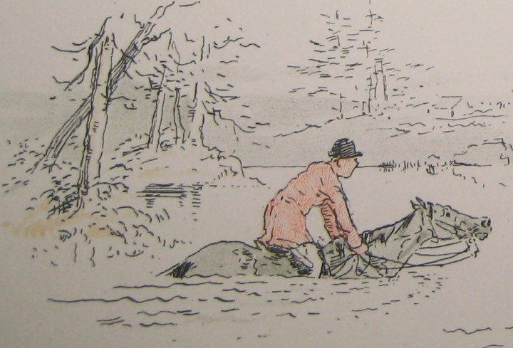"""Still waters run deep - a lesson best learned by experience,"" from Leaves From A Hunting Journal."