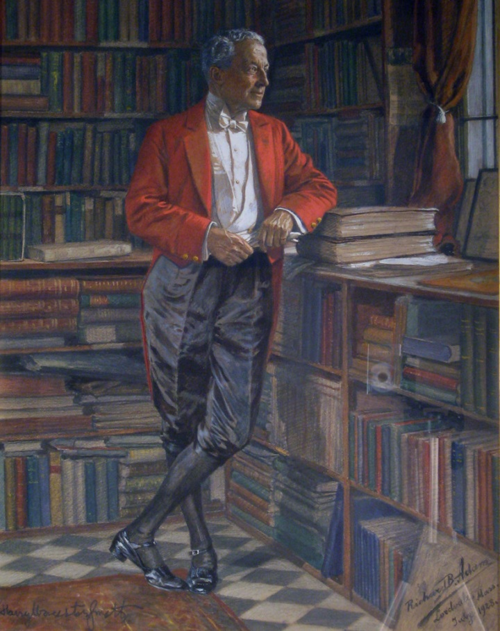 Portrait of Harry Worcester Smith, by Richard Benno Adam (German, 1873-1937) Watercolor and pencil heightened with gouache, 20 1/2 x 16 inches National Sporting Library & Museum, gift of the Saddle & Sirloin Club, Chicago