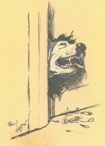 """Aldin also relates humorous tales about other dogs he had encountered, including """"Sturdee,"""" the dog who chewed through doors with lightning speed!"""