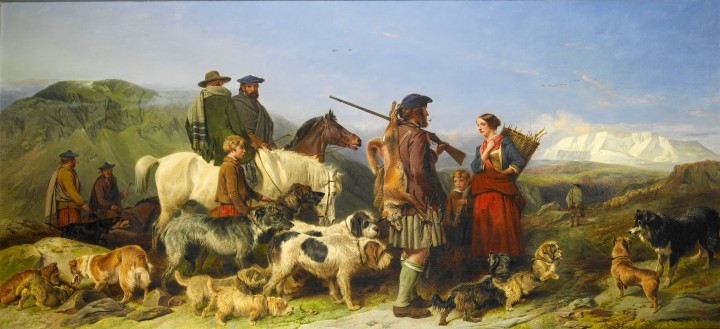Richard Ansdell (Bristish, 1815 - 1885) Highland Tod, Fox Hunter, 1859 oil on canvas 29 x 63 ½ inches Collection of American Kennel Club