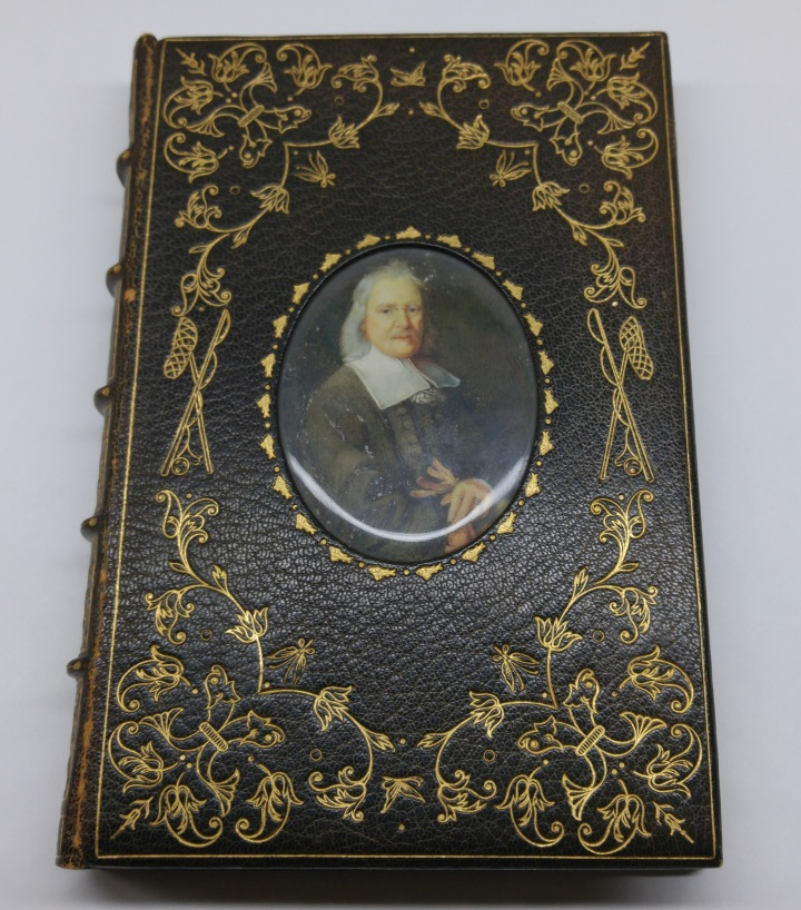 The Compleat Angler, by Izaak Walton (1594-1683). Chiswick: The Caradoc Press, 1905. This Cosway Binding features a portrait of Walton on ivory and under glass, all laid into a beautiful front board.