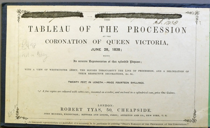 Tableau of the Procession at the Coronation of Queen Victoria. Gift of John and Martha Daniels, 1999.