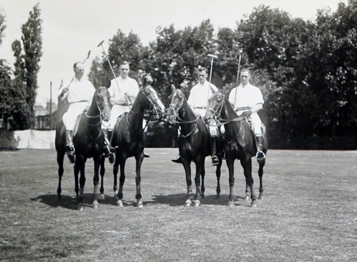 The American team: Louis A. Stoddard, Thomas Hitchcock, Jr., J. Watson Webb, and Devereux Milburn
