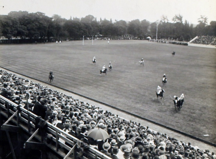 A view of the first match, June 18, 1921.