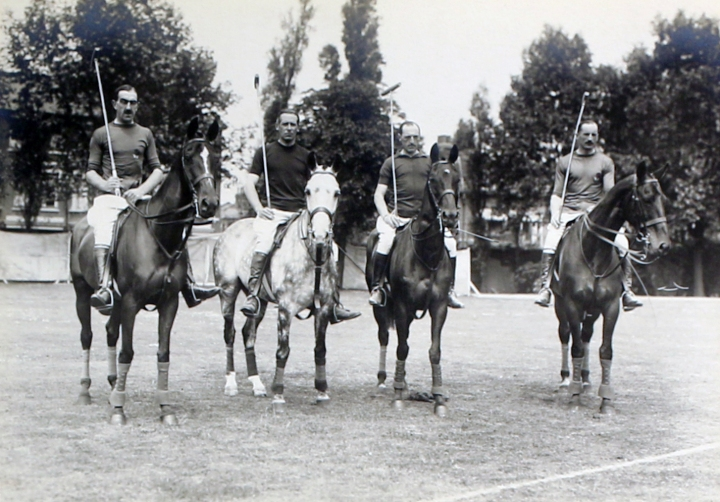 The English team: Maj. V. N. Lockett, Capt. Lord Wodehouse, Maj. F. W. Barrett, and Lt. Col. H. A. Tomkinson.