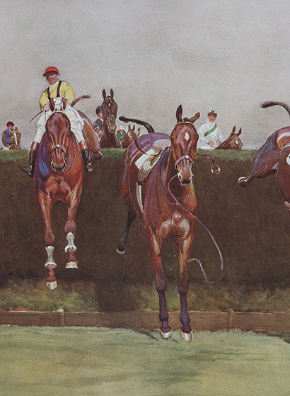 Cecil Aldin (English, 1870-1935), The Grand National Series: No. 3, Valentine's Brook, c. 1823, photogravure, Gift of Dr. Laura Jane Schrock