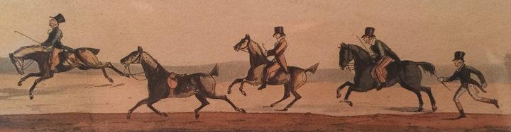 Henry Thomas Alken (English, 1785-1851) Epsom Races – The Derby Day, 1818 hand-colored aquatint, each 2 ½ x 20 inches Gift of Mr. and Mrs. Norman R. Bobins, 2012