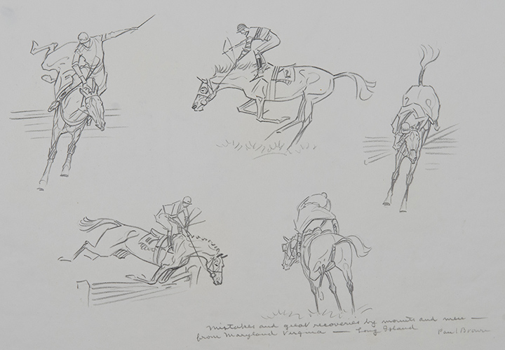 Paul Brown, Mistakes and Great Recoveries, 1940, pencil on paper, 9 1/4 x 12 inches, Gift of Boots Wright in memory of Mr. and Mrs. Richard E. Riegel, 2013