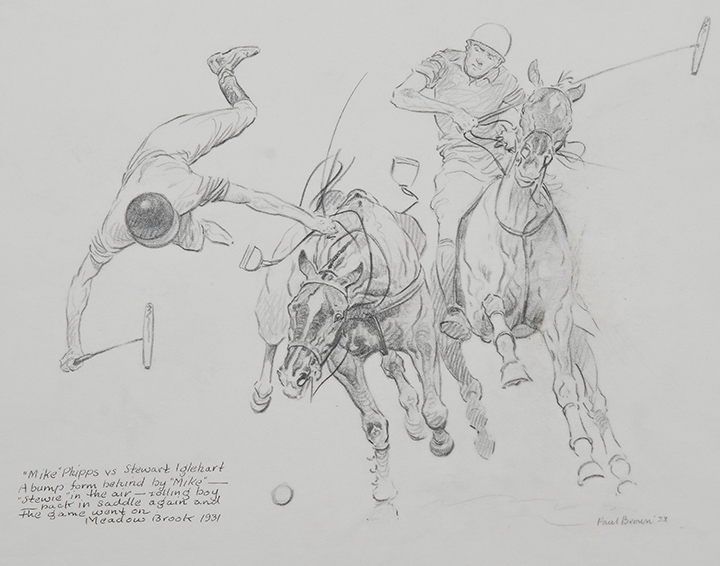 Paul Brown, Mike Phipps vs. Stewart Iglehart, 1933, pencil and ink on paper, 8 1/2 x 11 1/4 inches, Gift of Boots Wright in memory of Mr. and Mrs. Richard E. Riegel, 2013
