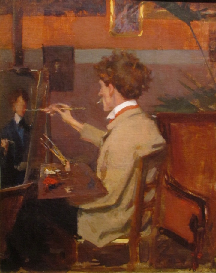 Ellen Emmet Rand, Frederick MacMonnies In His Studio, ca. 1898, William Benton Museum of Art Collection © University of Connecticut, Storrs, CT. http://benton.uconn.edu/wp-content/uploads/sites/1519/2016/05/1969.17.jpg