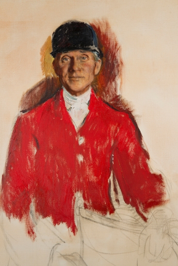 Ellen Gertrude Emmett Rand (American, 1875-1941) Study for Portrait of Fletcher Harper (1874-1963), c. 1931, oil on canvas, 45 x 34 ½ inches. National Sporting Library & Museum, gift of Mrs. Fletcher Harper, 1972.
