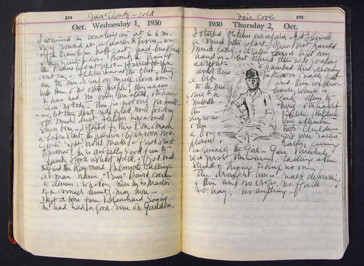 October 1-2, 1930 diary entries by Ellen Emmet Rand