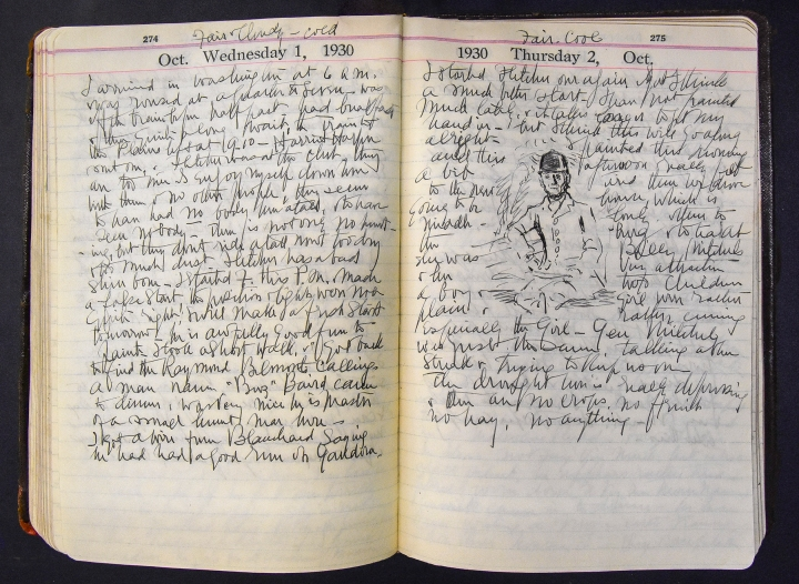 October 1-2, 1930 diary entries by Ellen Emmet Rand