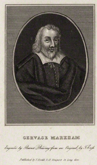 Gervase Markham by Burnet Reading, published by  Thomas Rodd the Elder, after  Thomas Cross