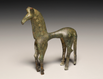 Statuette of a Horse, ca. 750-600 BCE bronze 3 9/16 inches high, 7/8 inches wide, 3 1/4 inches long Sidney and Lois Eskenazi Museum of Art, Indiana University Photo: Kevin Montague
