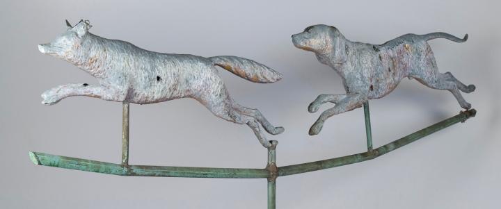 A Hound Chasing a Fox
