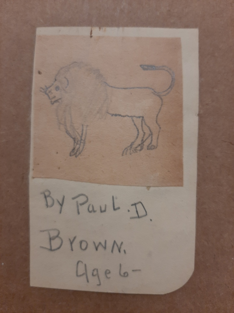 [untitled], 1899, pencil on paper, Paul Brown Archive, Box 11,  Searles Collection, 2011